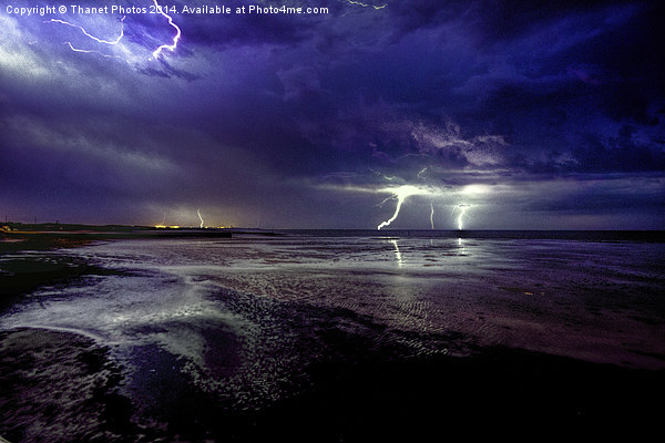 Lightning  storm Canvas print by Thanet Photos