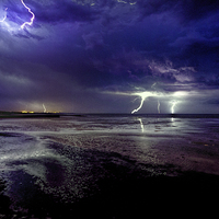 Buy canvas prints of  Lightning  storm by Thanet Photos