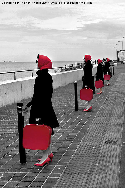 Red Ladies Canvas print by Thanet Photos