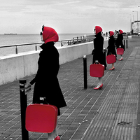 Buy canvas prints of  Red Ladies by Thanet Photos