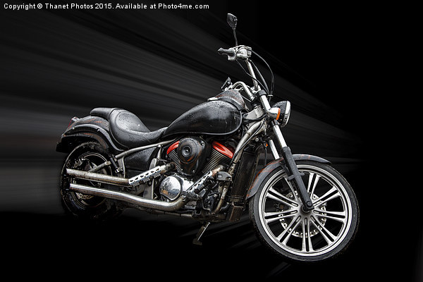 Custom motor bike Canvas print by Thanet Photos