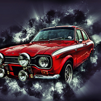Buy canvas prints of Ford Escort Mexico RS2000 by Thanet Photos