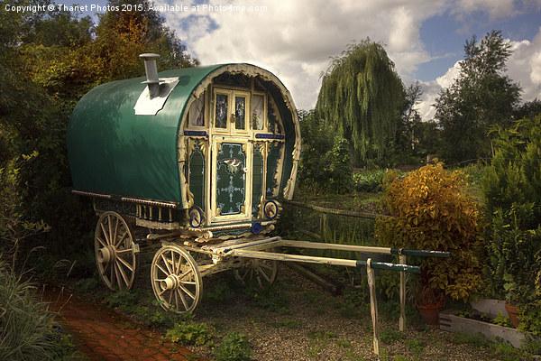 gypsy caravan Canvas print by Thanet Photos