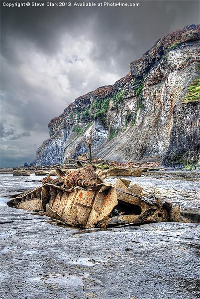 Saltwick Bay Shipwreck Canvas print by Steve Clark