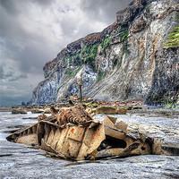 Buy canvas prints of Saltwick Bay Shipwreck by Steve Clark