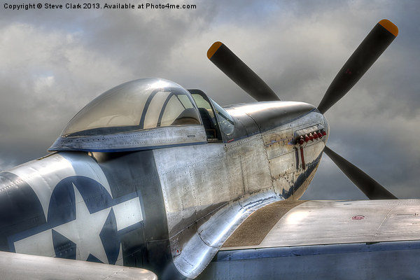 P51 Mustang Ready for Action Canvas print by Steve Clark
