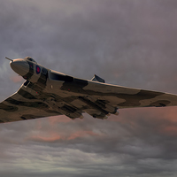 Buy canvas prints of Vulcan Bomber by Steve Clark