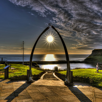 Buy canvas prints of Whale Jaw Bone Arch- Whitby by Steve Clark