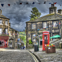 Buy canvas prints of Haworth Main Street by Steve Clark