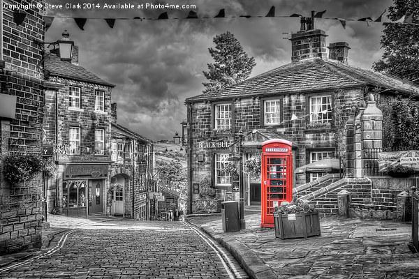 Haworth - Red Telephone Box Canvas print by Steve Clark