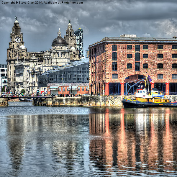 Albert Dock Liverpool (Square) Canvas print by Steve Clark