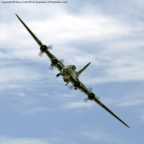 B-17 Flying Fortress Sally B Acrylic by Steve Clark