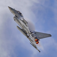 Buy canvas prints of  Eurofighter Typhoon (D-Day Stripes) by Steve Clark