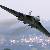 Buy canvas prints of Avro Vulcan - Dawlish Air Show 2015 by Steve H Clark