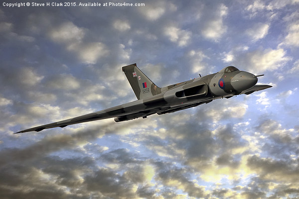 The Sun Sets on XH558 Canvas print by Steve H Clark