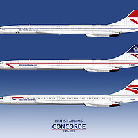 Buy canvas prints of British Airways Concords 1976 to 2003 by Steve H Clark