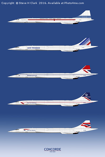Concorde 1969 to 2003 Canvas print by Steve H Clark