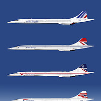 Buy canvas prints of Concorde 1969 to 2003 by Steve H Clark