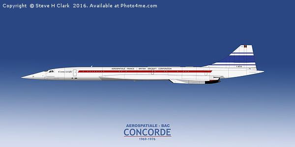 Concorde 001 F-WTSS Canvas print by Steve H Clark