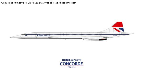 British Airways Concorde 1976-1984 Canvas print by Steve H Clark