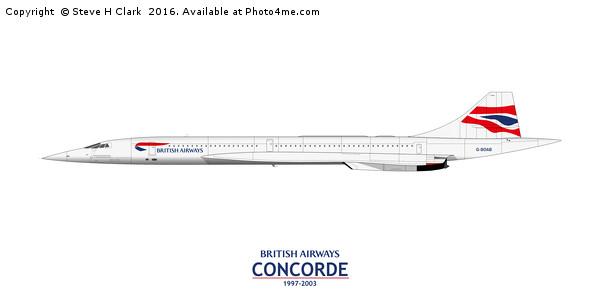 British Airways Concorde 1997-2003 Canvas print by Steve H Clark
