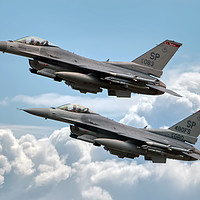 Buy canvas prints of F16 Fighting Falcon Warhawks by Steve H Clark