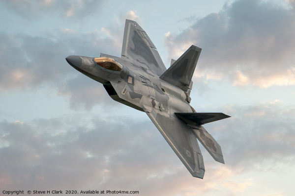 F-22 Raptor Canvas Print by Steve H Clark