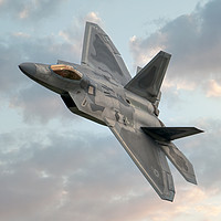 Buy canvas prints of F-22 Raptor by Steve H Clark