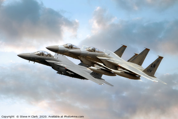 F-15 Eagles and Strike Eagle Canvas Print by Steve H Clark