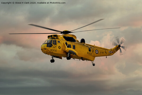 RAF Search and Rescue Sea King Framed Print by Steve H Clark