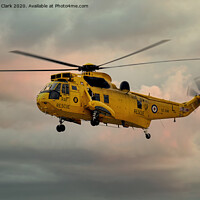 Buy canvas prints of RAF Search and Rescue Sea King by Steve H Clark