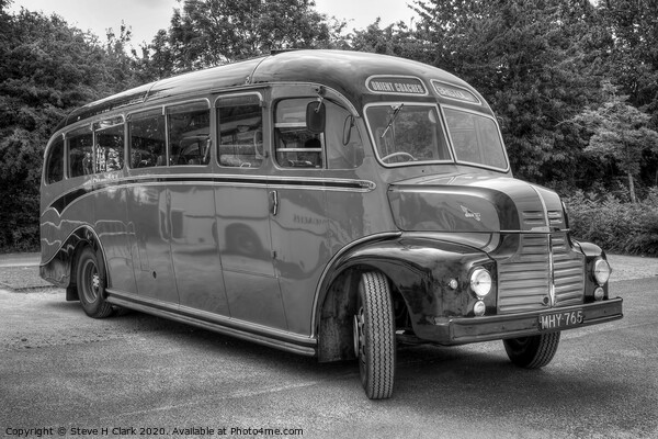 Orient Coaches - Black and White Canvas Print by Steve H Clark