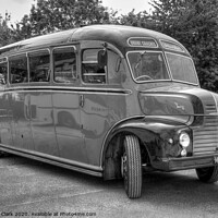 Buy canvas prints of Orient Coaches - Black and White by Steve H Clark