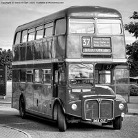 Buy canvas prints of Routemaster - Black and White by Steve H Clark