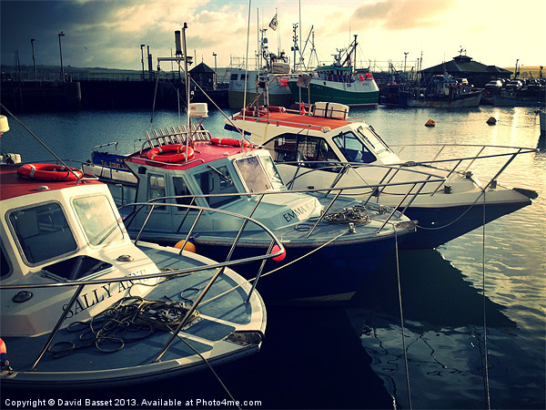 Boats in padstow harbour Canvas Print by David Basset
