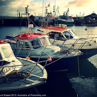 Buy canvas prints of Boats in padstow harbour by David Basset
