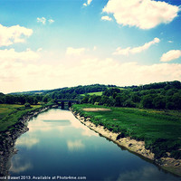 Buy canvas prints of River Taw North Devon by David Basset