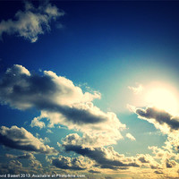 Buy canvas prints of sky above north devon by David Basset