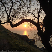 Buy canvas prints of Sunset north devon by David Basset