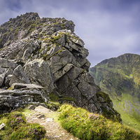 Buy canvas prints of  The Nantle Ridge by Peter Stuart