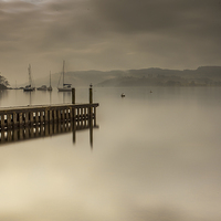 Buy canvas prints of  Misty Windermere by Peter Stuart