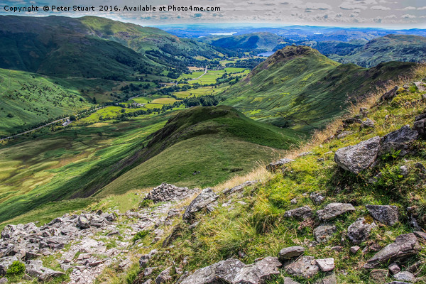 Helm Crag and Steel Fell Canvas print by Peter Stuart