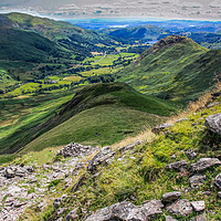 Buy canvas prints of Helm Crag and Steel Fell by Peter Stuart
