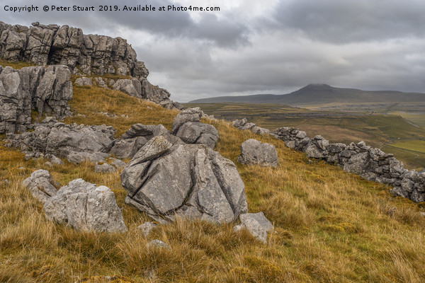 Ingleborough, North Yorkshire Canvas print by Peter Stuart