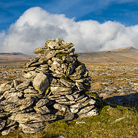 Buy canvas prints of Ingleborough and Whernside in the Yorkshire Dales by Peter Stuart
