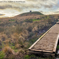 Buy canvas prints of Rivington Pike and Winter Hill above Anglezarke Reservoir in the West pennines by Peter Stuart