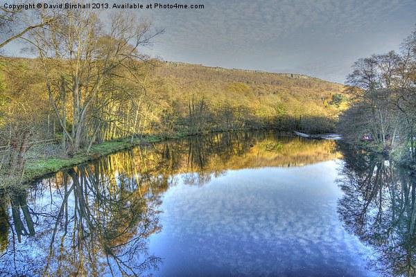 River Derwent Reflections, Derbyshire Canvas print by David Birchall