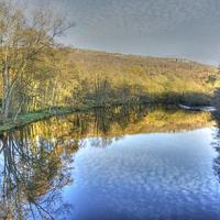 Buy canvas prints of River Derwent Reflections, Derbyshire by David Birchall