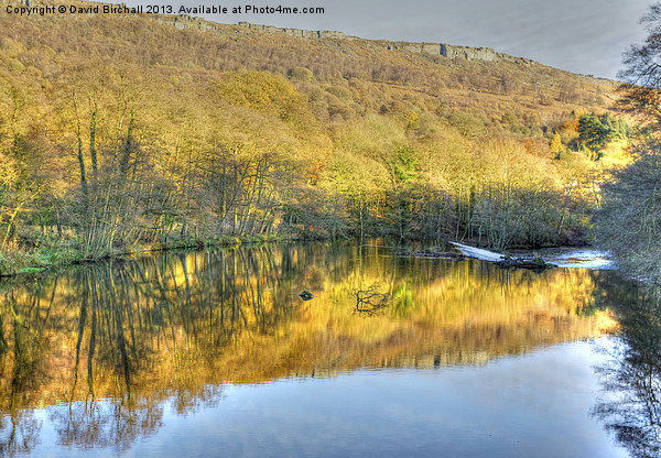 River Derwent Reflections, Derbyshire Canvas print by David Birchall