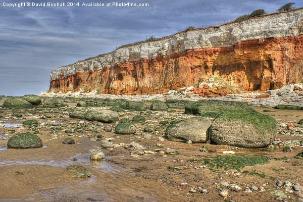 Cliffs at Hunstanton Acrylic by David Birchall